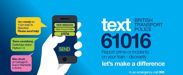 Tweet You can report crime or incidents on a train or at…