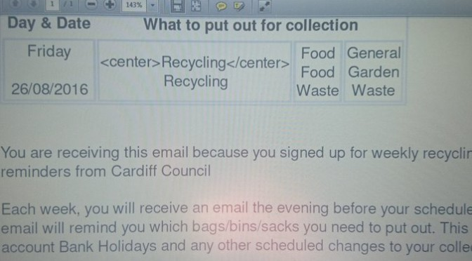 Tweet This email to a #Heath resident tells them to put…